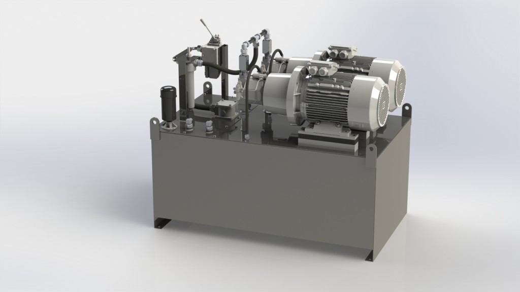 Image of a 3D Power pack design by Neilson Hydraulics