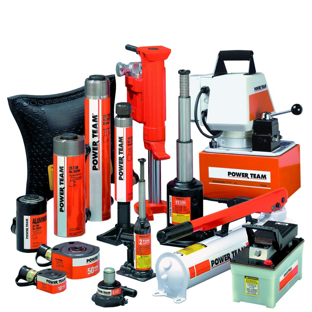 Group image of a range of SPX Power Team products